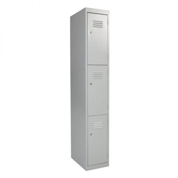Steel Lockers 3 Door SL3 *All Colours* 300W X 1800H X 450D-0