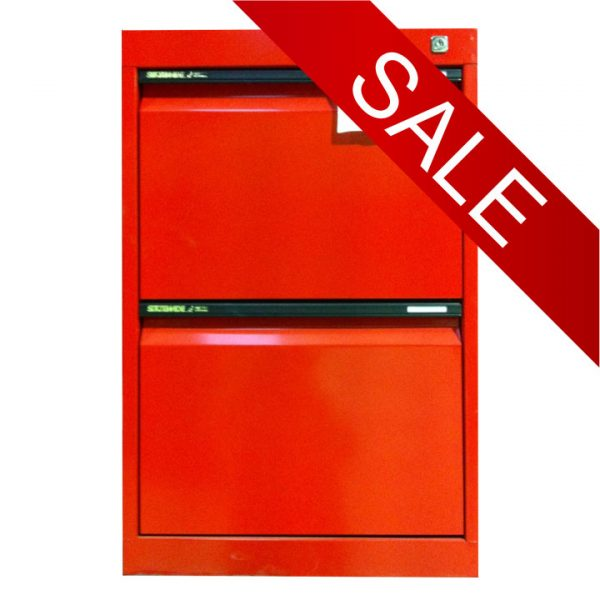 STATEWIDE 2 Drawer Metal Filing Cabinet *All Colours*-0