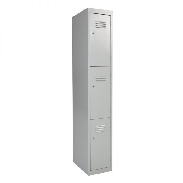 Steel Lockers 3 Door SL3 *All Colours* 300W X 1800H X 450D-0