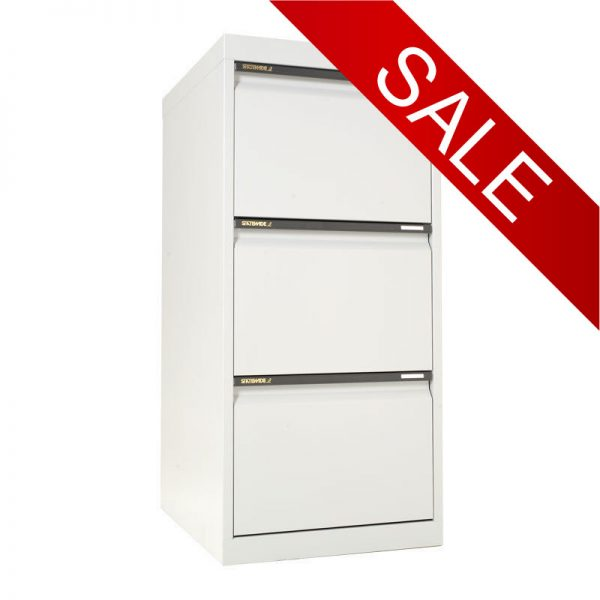 STATEWIDE 3 Drawer Metal Filing Cabinet *All Colours*-0